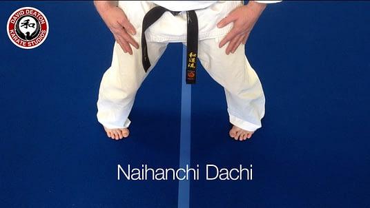 Naihanchi Dachi Karate Stance
