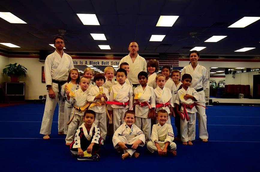 Little Dragon Karate Graduation Class