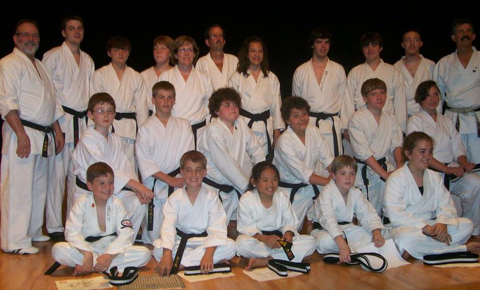 Mount Juliet Black Belt Karate Graduation Class June 2010