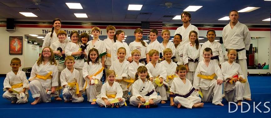 Childrens Karate Graduation Class for April 2012