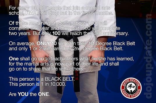 how long does it take to earn black belt in karate