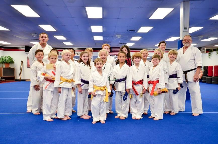 Children's Karate Graduation Class Photo
