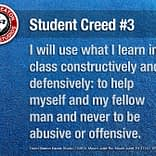 Student Creed No. 3