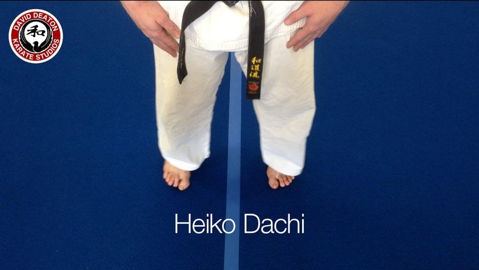 Heiko Dachi Karate Stance