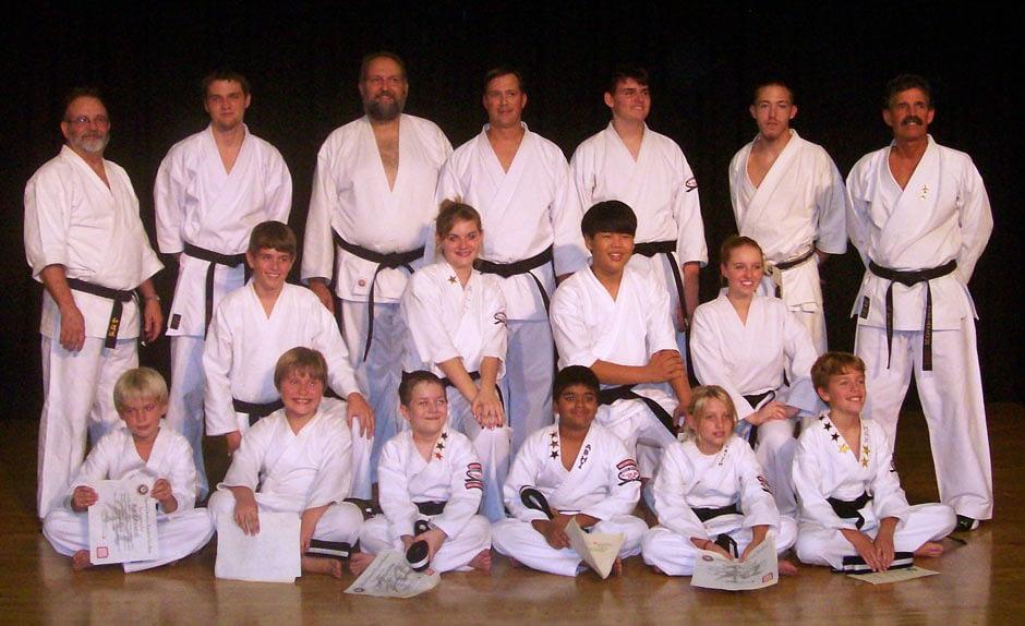 Wado Ryu Karate Graduation Class September 2008