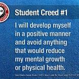Student Creed No. 1