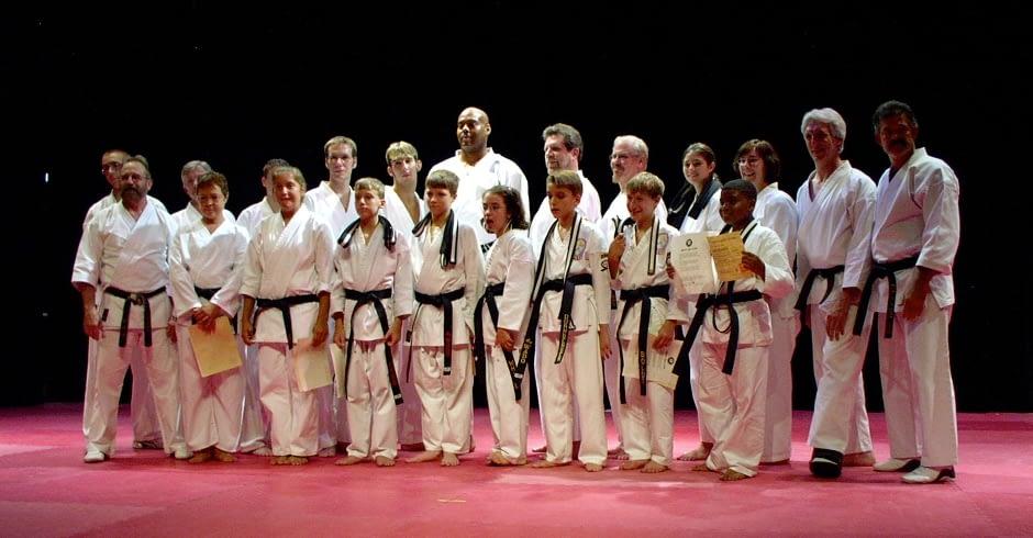 Wado Ryu Karate Black Belt Graduating Class July 2004