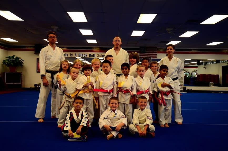 Little Dragon Karate Graduation Class