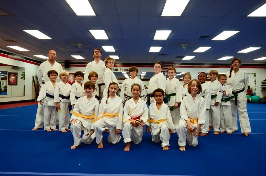Children's Karate Graduation Class Photo