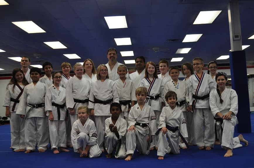 Teens and Adults Graduating Karate Students