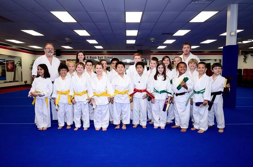 Childrens Karate Graduation Class Photo