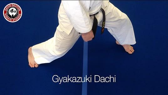 Gyakazuki Dachi Karate Stance