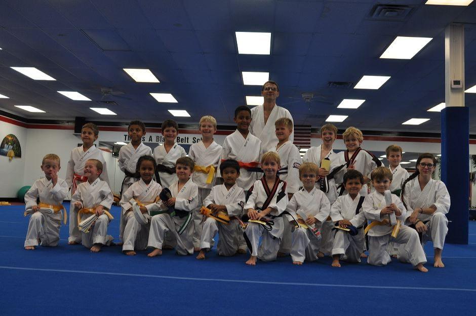 Little Dragons Karate Graduation Class